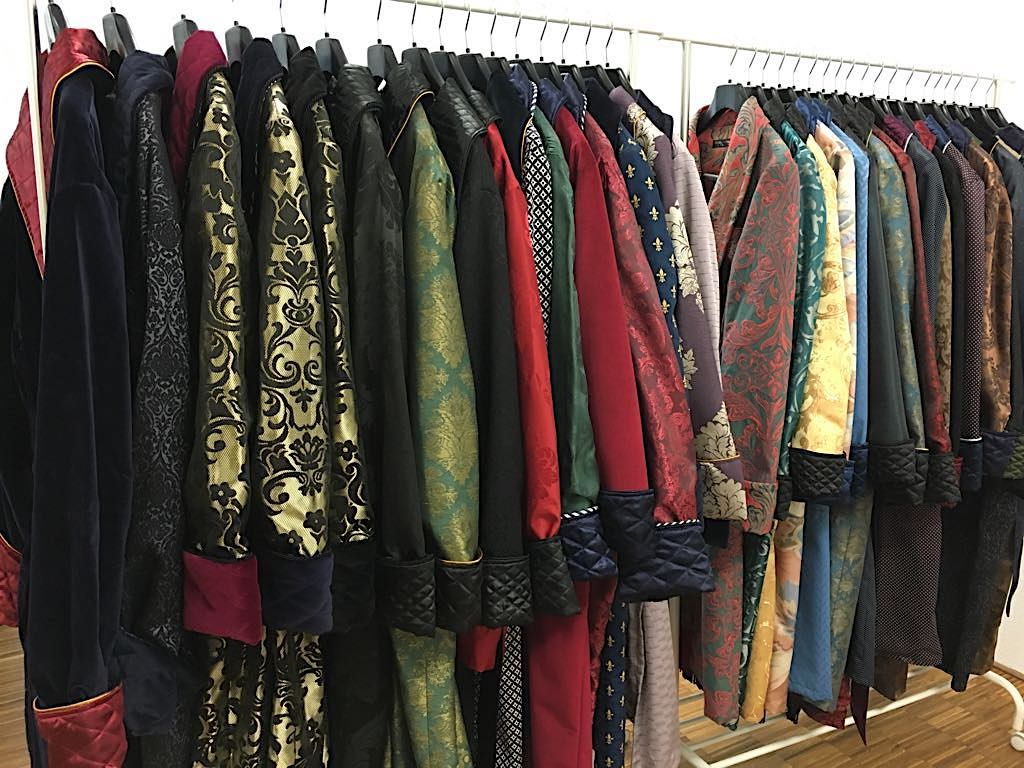 Men's Luxury Dressing Gowns And Robes In Silk And Cotton