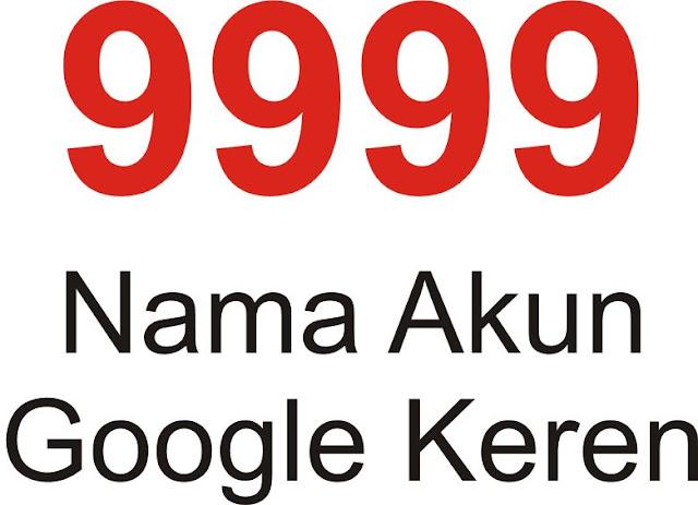 Nama Akun Google Keren