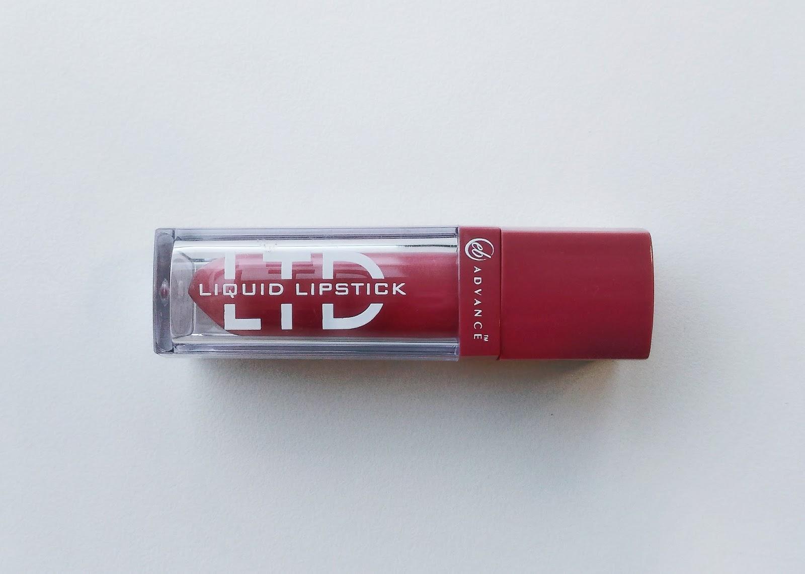 Lucky Citrine: EB Advance LTD Liquid Lipstick in Cashmere