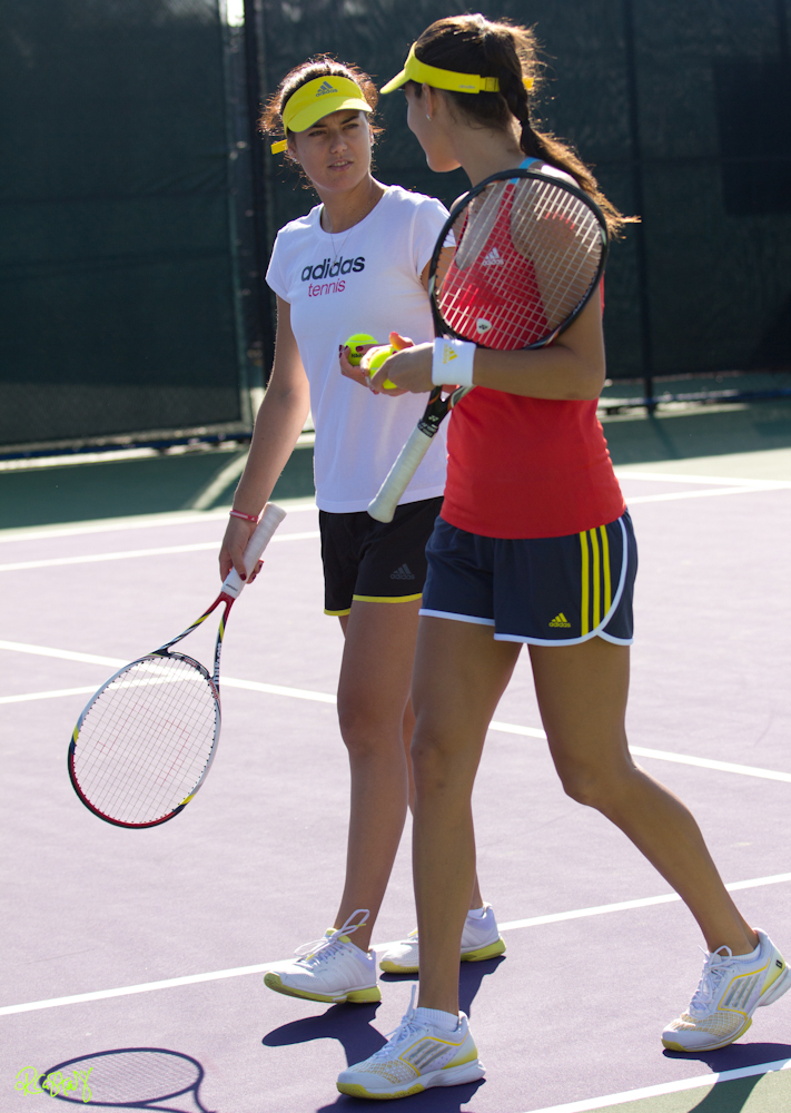 Ana Ivanovic and Sorana Cirstea (Day 4) Practice Session ...