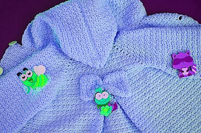 7 - Crochet Imagen Capucha de abrigo rosa por Majovel Crochet
