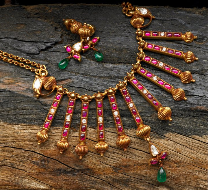 Burmese Ruby Jewellery By Arnav Jewellery Designs