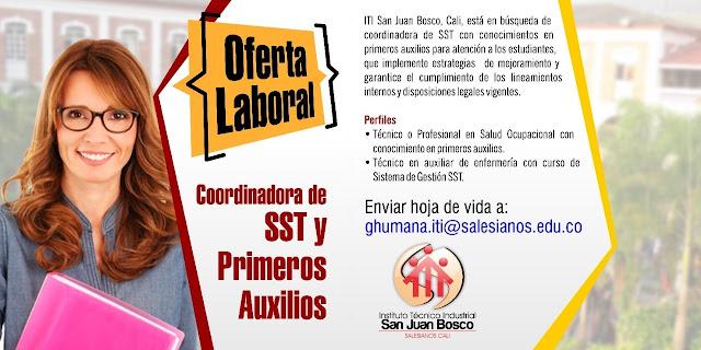 📂 Empleos en Cali Hoy como Coordinador SST💼 |▷ #Cali #SiHayEmpleo #Empleo