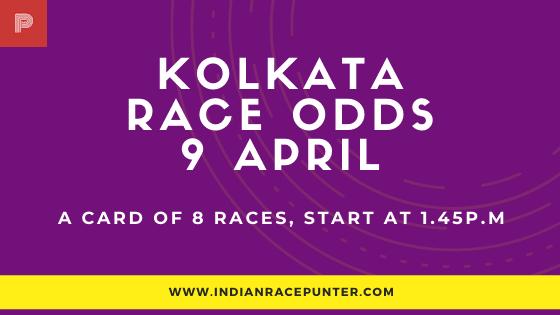 Kolkata Race Odds 9 April