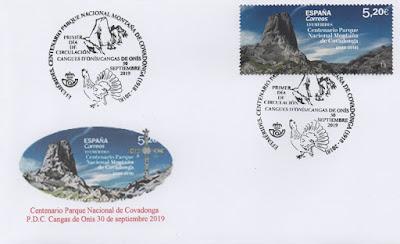 Sobre PDC del sello del Parque Nacional de la Montaña de Covadonga
