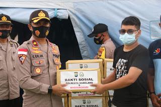 Polresta Barelang Dan Polsek Nongsa Berikan Bantuan Korban Banjir