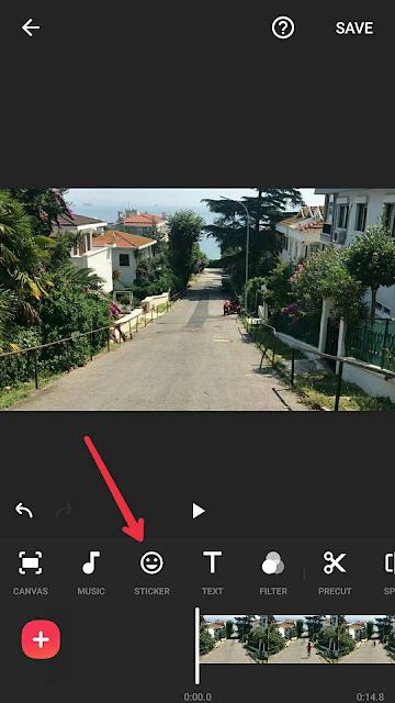 Menambahkan Watermark  Video Inshot editor video