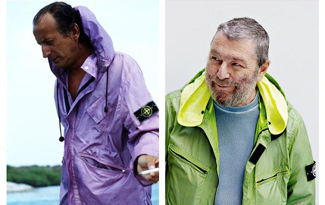 Massimo Osti y Carlo Rivetti, actual director de Stone Island