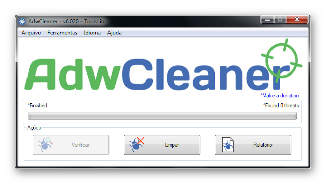 Eliminador de Adware/barra de ferramentas/PUP/hijacker
