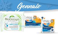 Logo Campioni omaggio Biogenya e Mag Stress Resist: ritirali gratis