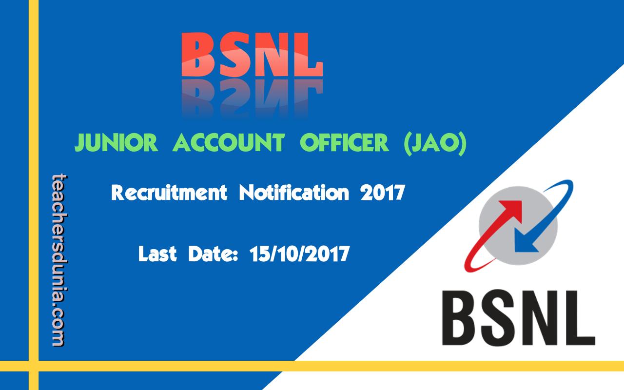BSNL-JAO-Notification-2017