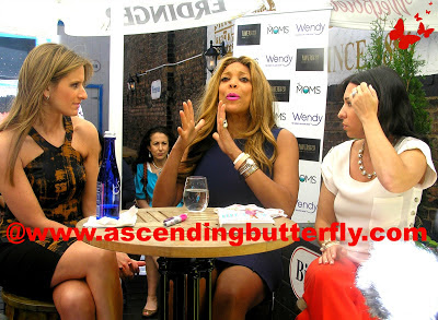 Left: Denise Albert, Center: Wendy Williams, Right: Melissa Gerstein at Ask Wendy Book Signing Mamarazzi Launch Event at Tavern 29 in New York City