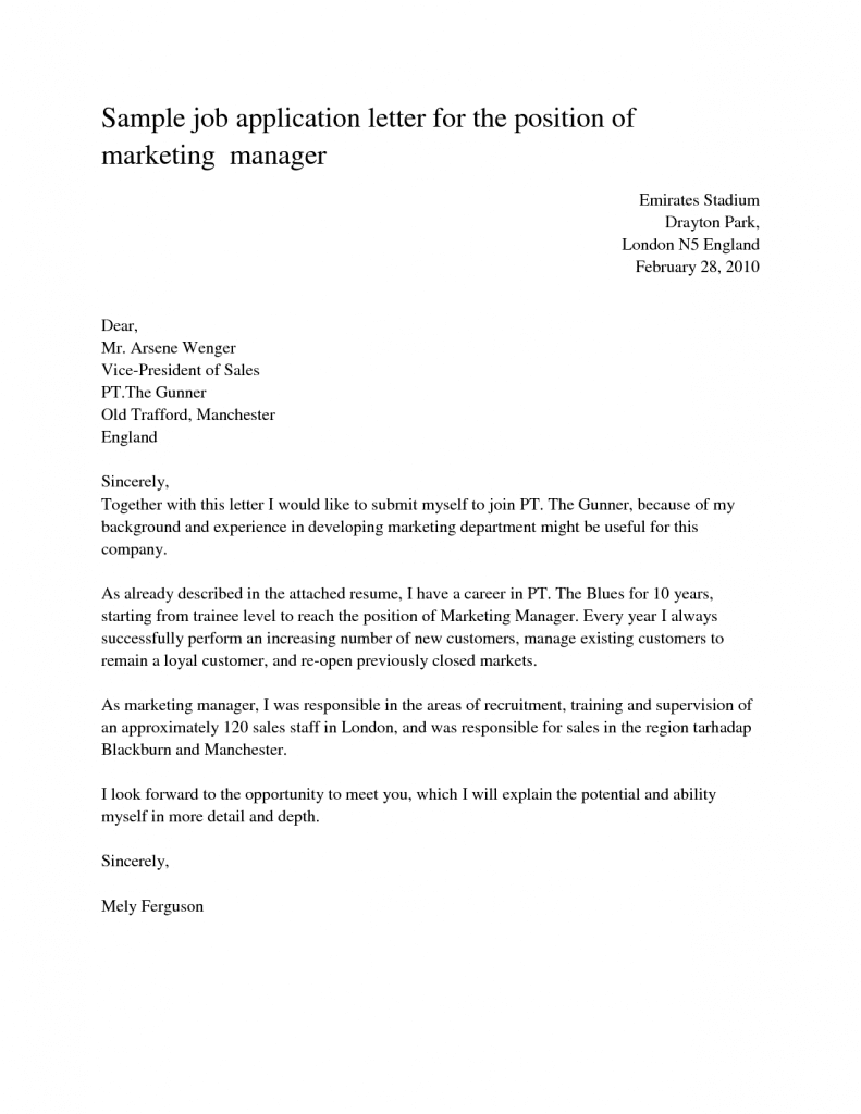 Sample Cover Letter For Fresh Graduate Tourism Malaysia Sample