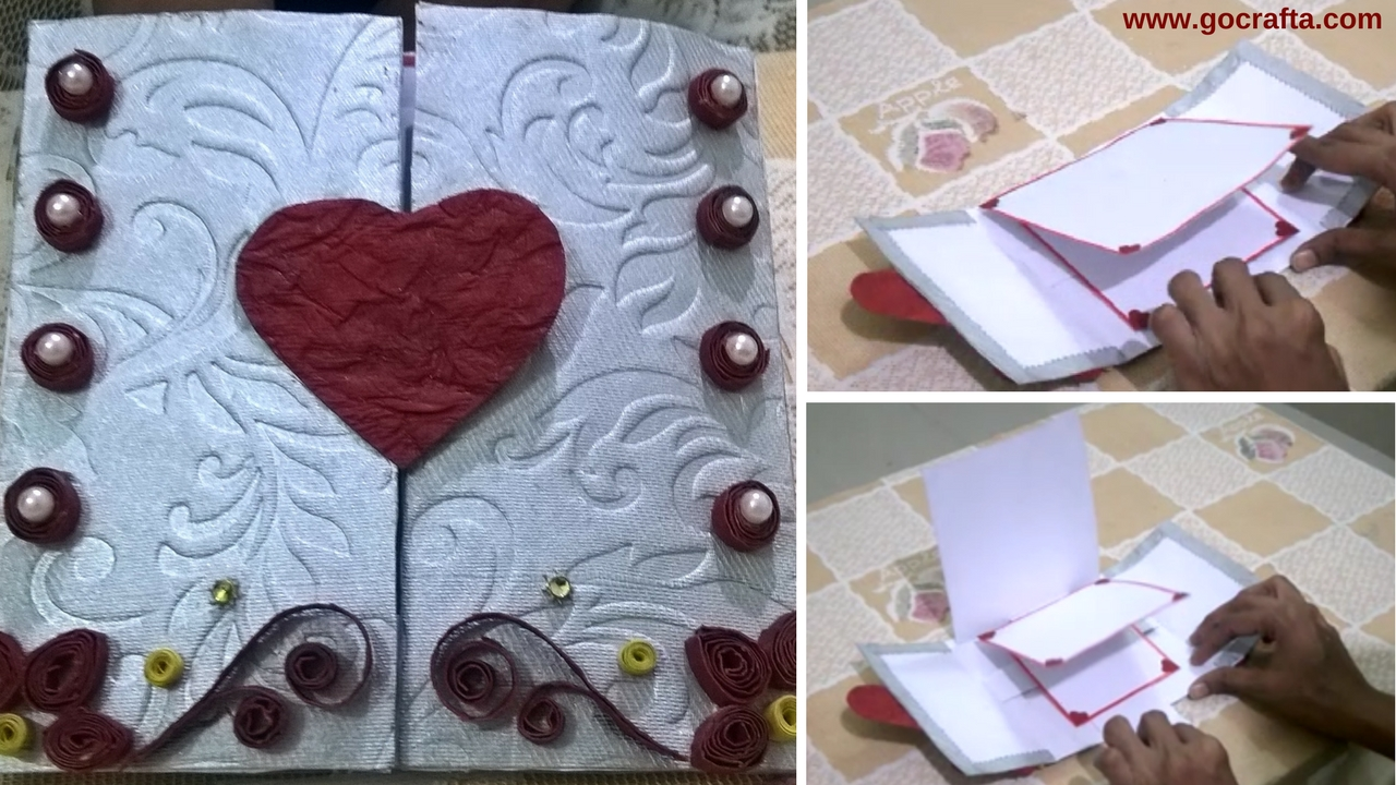 How To Make Waterfall Greeting Card Gocrafta Diy Art And Craft Ideas