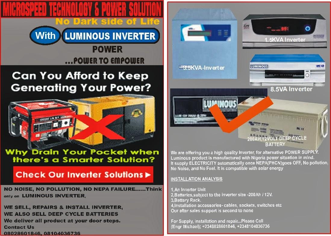 Inverter And Solar Expert In Nigeria Enjoy Uninterrupted Power Empower Wiring Diagram 08kva 12v Load Chart Guideline