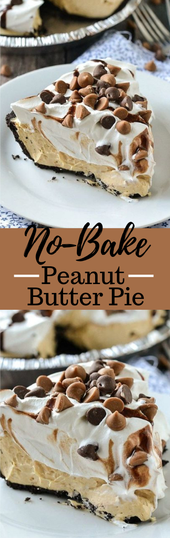 No-Bake Peanut Butter Pie #dessert #cake