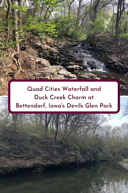 Quad Cities Waterfall and Duck Creek Charm at Bettendorf, Iowa's Devils Glen Park