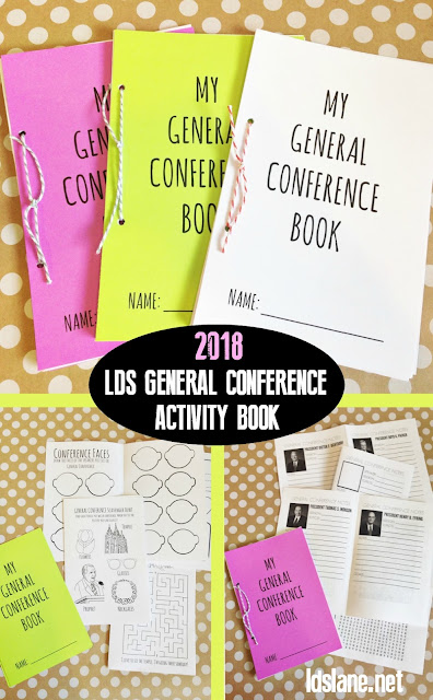 LDS General Conference activity book - updated 2018 - ldslane.net