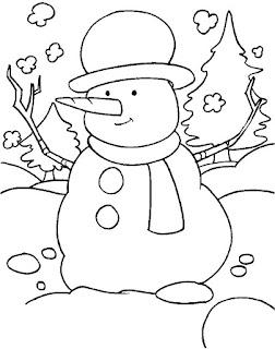 ציור לצביעה איש שלג