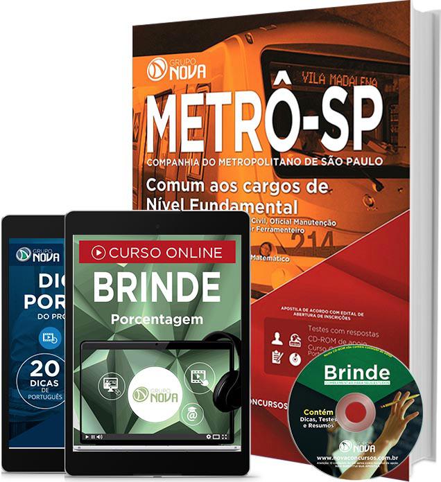 Apostila METRÔ SP 2016 Nível Fundamental Impressa