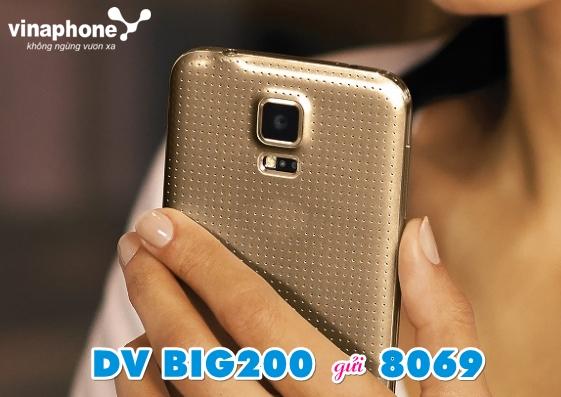 Cách đăng ký gói Big200 Vinaphone, 5.5GB, 200.000đ