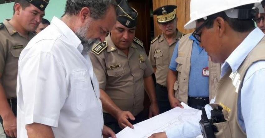 MININTER supervisa construcción de Escuela de Suboficiales de la PNP en Iquitos