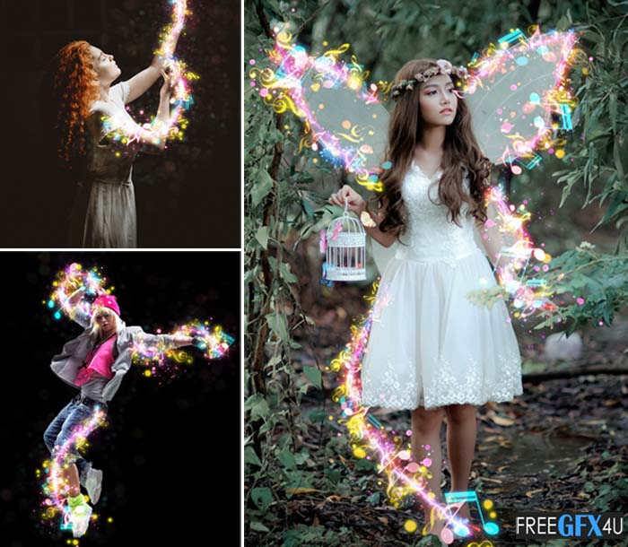 Magic Music Photoshop Action