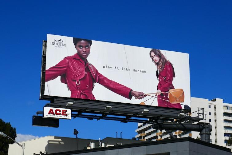 Play it like Hermès womens FW18 billboard