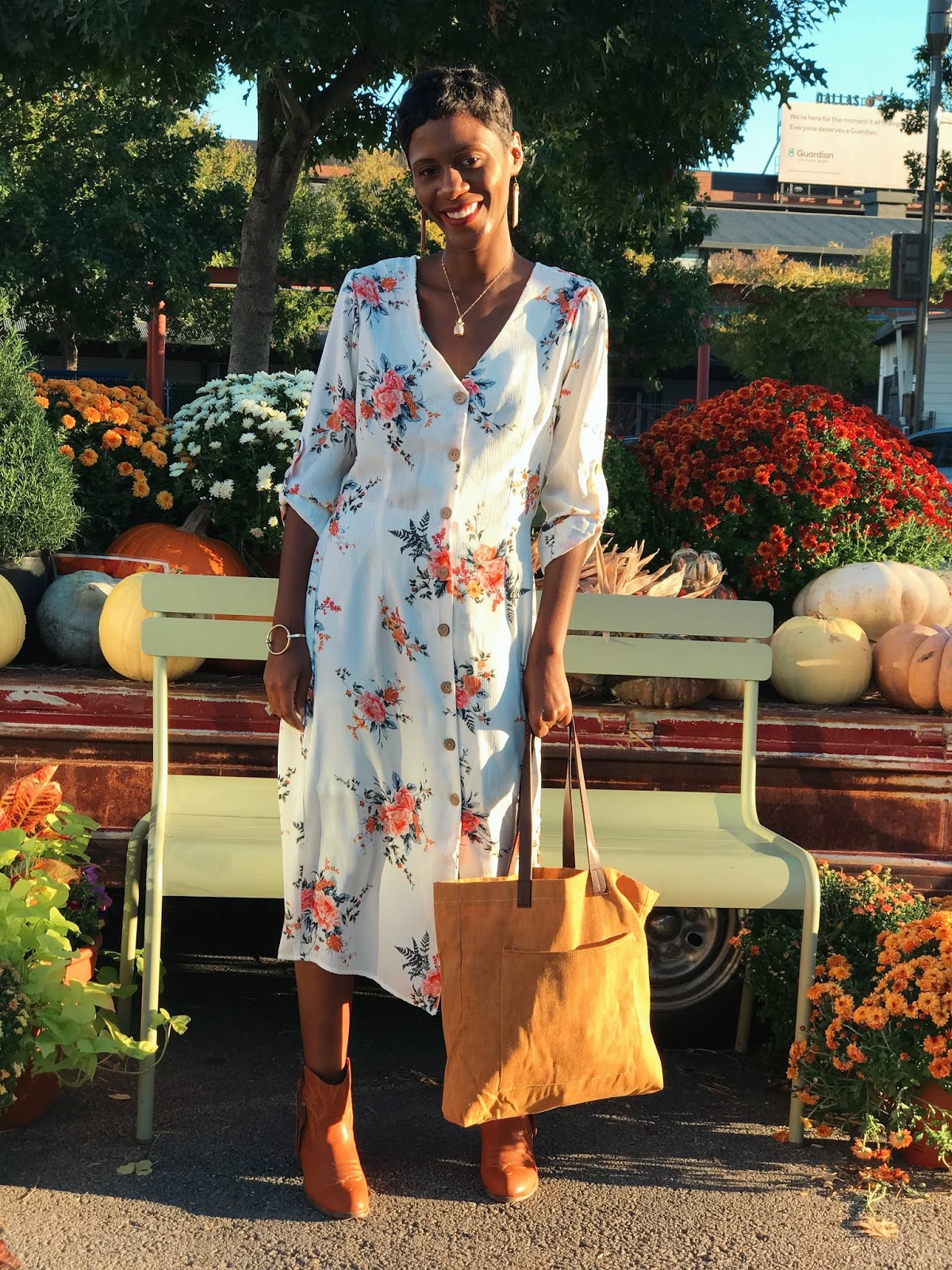 Restyle This With That: Rocking My White Floral Dress Two Simple Ways This Fall And Winter!
