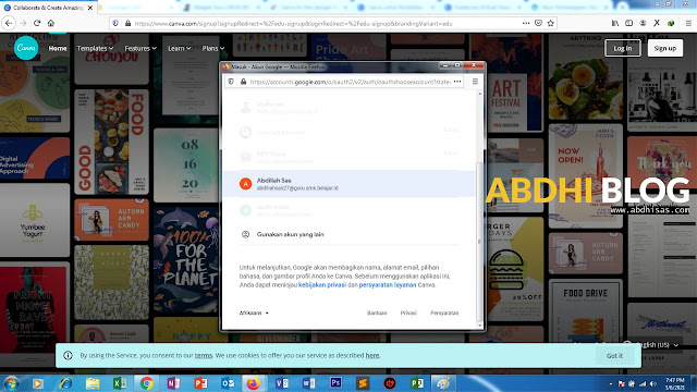 3 Canva For Edu Pilih Gmail belajar id
