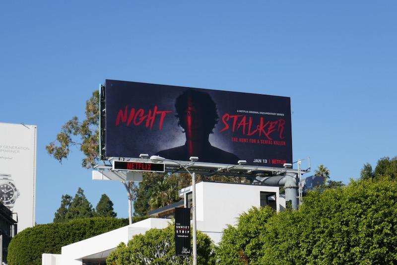 Night Stalker series launch billboard