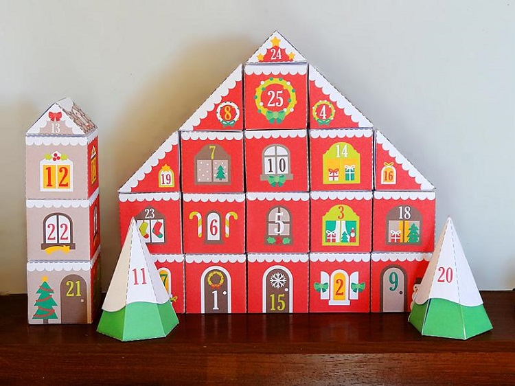 moveable village advent calendar