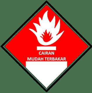 Simbol Cairan Mudah Terbakar