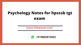 Psychology Notes for hpsssb tgt exam