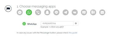 cara membuat widget tombol whatsapp di blogspot