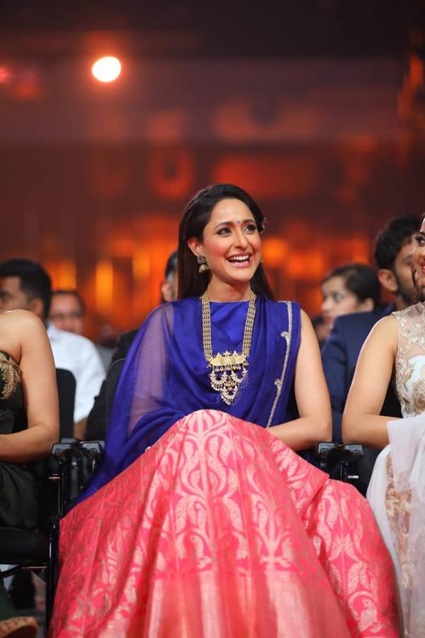 Beautiful Telugu Girl Pragya Jaiswal At Siima Awards 2017 In Blue Dress