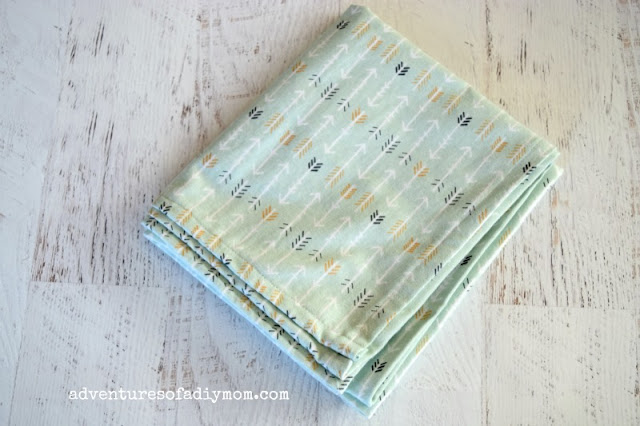 how to sew a receiving blanket