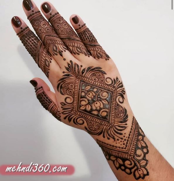 Creative Mehndi Design for Back Hand