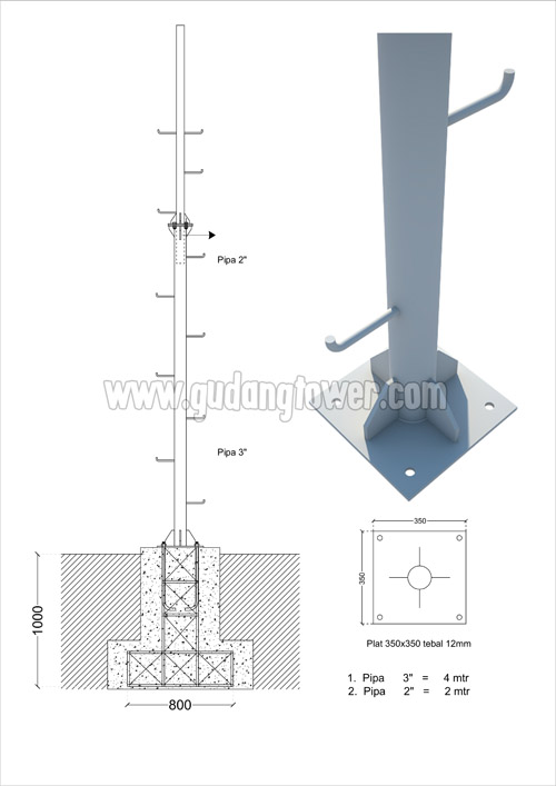 Tower Monopole 6 meter