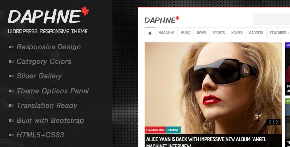 Daphne WordPress Responsive News Theme