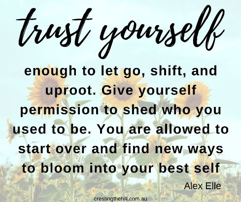 trust yourself enough to let go, shift, and uproot. give yourself permission to shed who you used to be. you are allowed to start over. #lifequotes