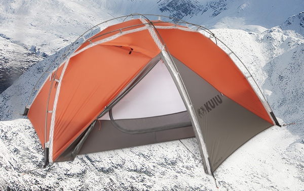 The original Mountain Star tent which shows the tent pole attachment to the tent being quite high from the ground. This causes the door material to flap ... & A Blog on the Landscape!: Kuiu Storm Star 4 season 2 person tent.