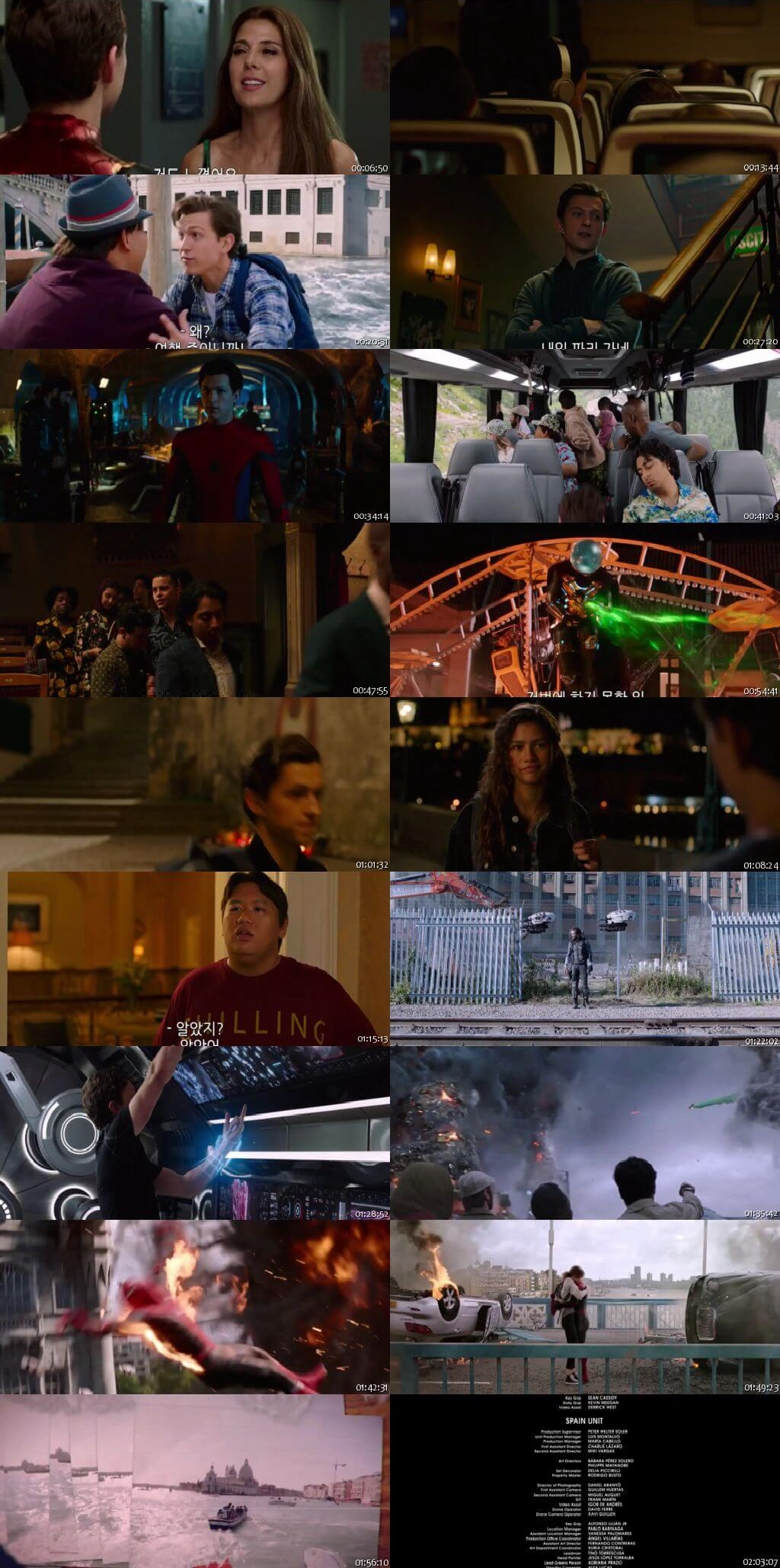 Screen Shot Of Spider-Man: Far from Home 2019 300MB Full Movie Hindi Dubbed Free Download 720P BRRip HEVC