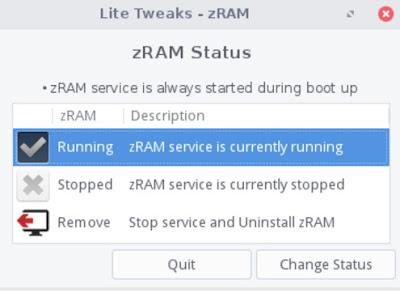 Linux lite zRAM