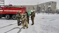(ФОТО)Занятия по решению пожарно-тактической задачи