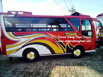 gambar mikro bus yang disewa di dieng