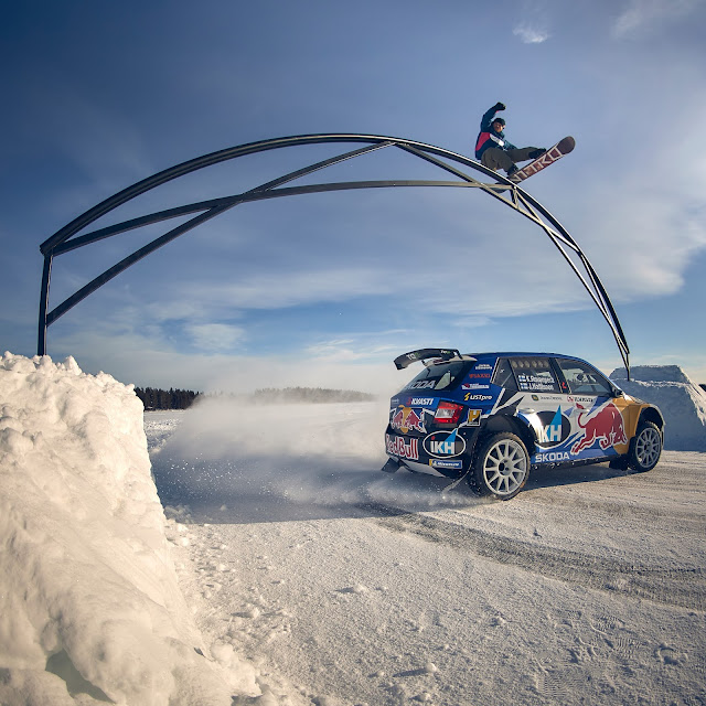 Kalle Rovanpera Snow Board and Rallying