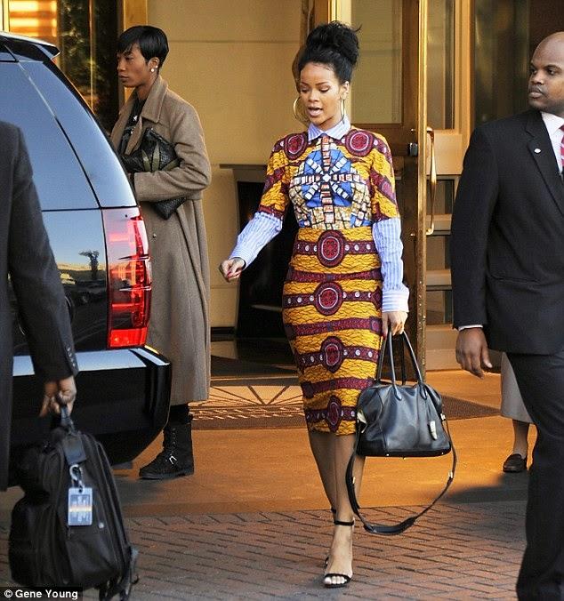 Latest African-fashion trend: Rihanna on Stella Jean ~ Osa's eye ...