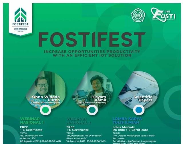 FOSTIFEST - Webinar Nasional dan Perlombaan Karya Tulis Ilmiah