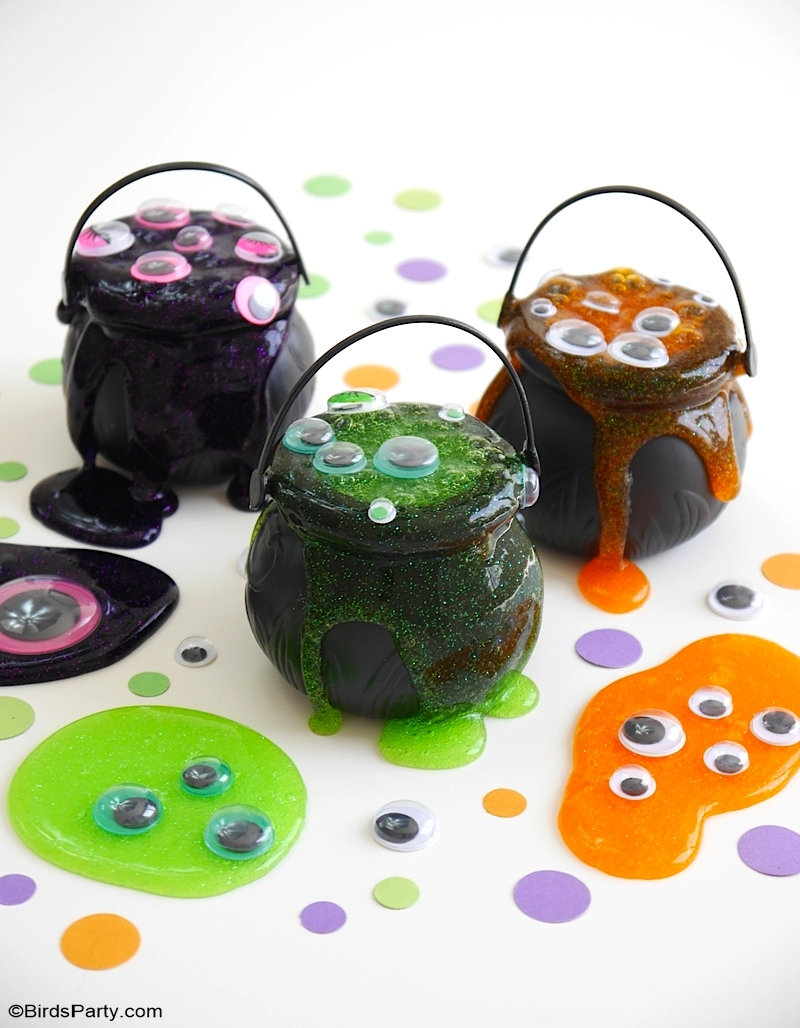 Slime d'Halloween Rapide et Facile Pour Les Enfants